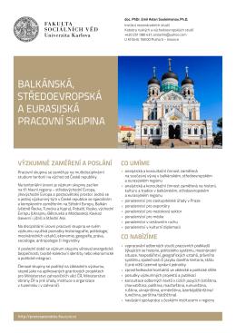 Balkánská, středoevropská a eurasijská pracovní skupina