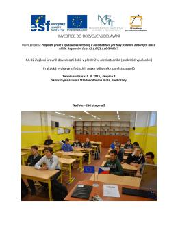 KA02 Škoda MT, škola Podbořany, skupina 2 9.4.2015