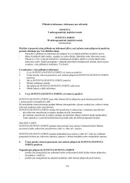 informace pro uživatele SUFENTA 5 mikrogramů/ml, injekční roztok