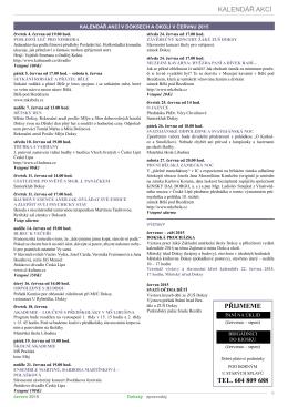 Kalendář akcí v červnu 2015