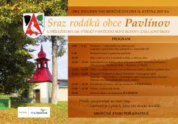 Sraz rodáků obce Pavlínov