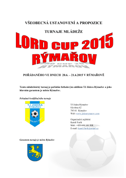 LORD CUP_PROPOZICE_FINAL