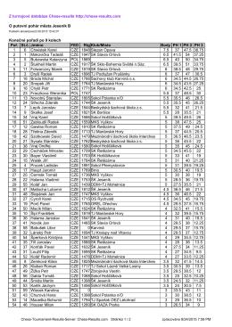 Z turnajové databáze Chess-results http://chess