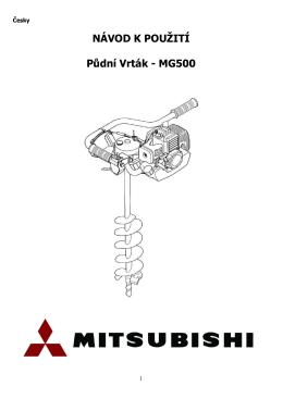 Uživatelský manuál - Půdní Vrták MG500