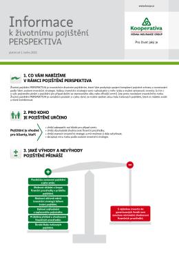Informace k životnímu pojištění PERSPEKTIVA