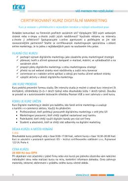 Informace ke kurzu v pdf