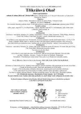 Tříkrálová Okoř - Dalkovepochody.cz