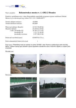 Rekonstrukce mostu ev. č. 4382