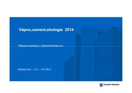 Příprava suroviny v Cement Hranice a.s.