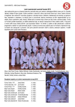 Letní mezinárodní seminář karate 2013