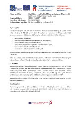 Závěrečná zpráva (2015)