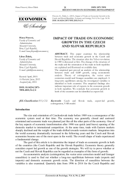 impact of trade on economic growth in the czech and slovak republics
