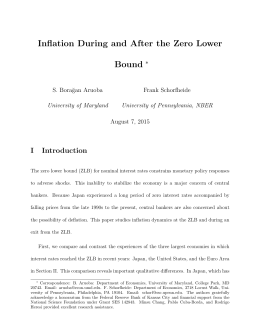 Inflation During and After the Zero Lower Bound