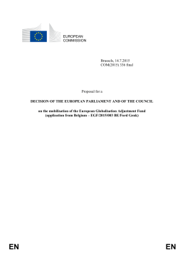 EUROPEAN COMMISSION Brussels, 14.7.2015 COM(2015