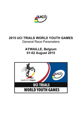 UCI Trials World Youth Games