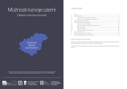 Možnosti rozvoje území: Bystřice pod Hostýnem
