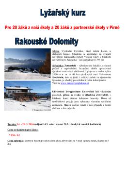 Místo: Východní Tyrolsko, okolí města Lienz, u