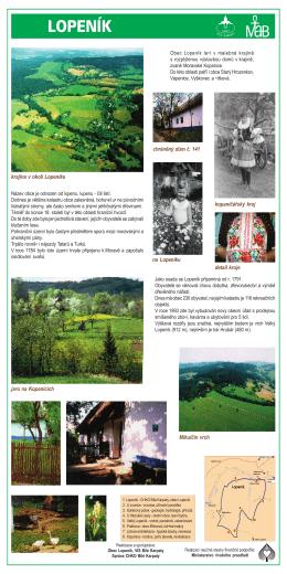 krajina v okolí Lopeníka chráněný dům č. 141