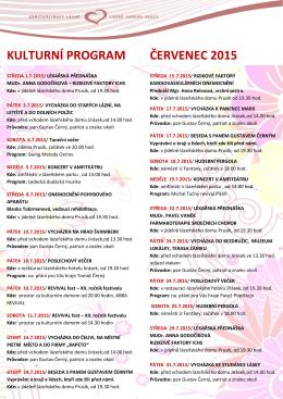 Kulturní program na měsíc červenec