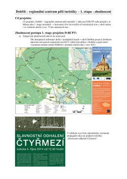 Dobříš – regionální centrum pěší turistiky – 1. etapa