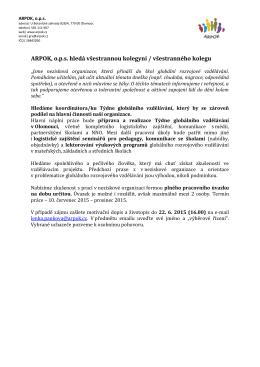 ARPOK, o.p.s. hledá všestrannou kolegyni / všestranného kolegu