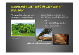 KOMPLEXNÍ POZEMKOVÉ ÚPRAVY STRÁNÍ 2014-2016