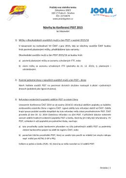 Návrhy ke Konferenci PSST 2015