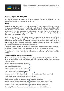 EEIC_Rusove_na_Ukrajine - Východoevropská agenutra pro boj s