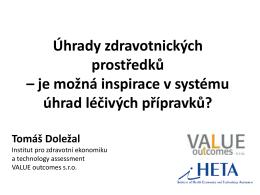 prezentace MUDr. Tomáše Doležala, Ph.D.