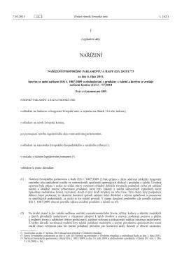 NAŘÍZENÍ EVROPSKÉHO PARLAMENTU A RADY (EU) 2015/ 1775