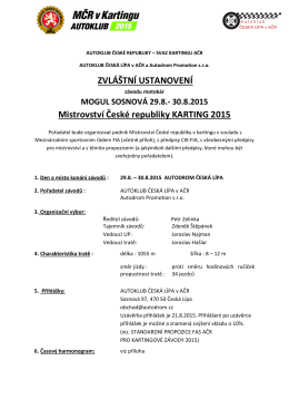 ZU MČR Karting 29. - 30. 8. 2015 Sosnová