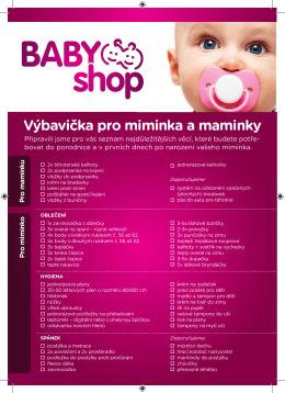 Výbavička pro miminka a maminky