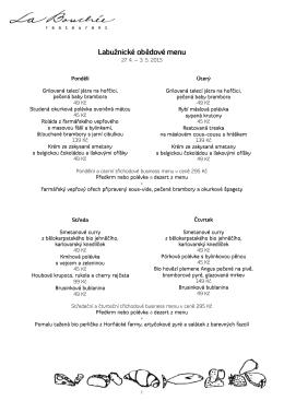 Labužnické obědové menu