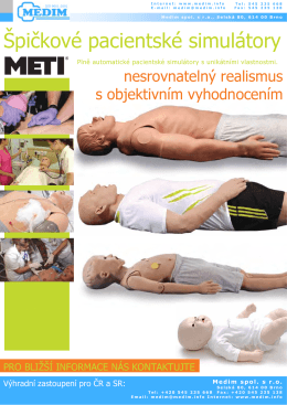 Modely a simulátory pro výuku resuscitace