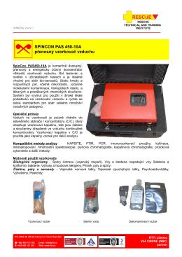 SPINCON PAS 450-10A přenosný vzorkovač vzduchu