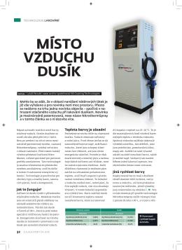 MÍSTO VZDUCHU DUSÍK - NS Coating Technologies