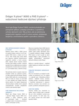 Dräger X-plore® 9000 a PAS X-plore® – vzduchové hadicové