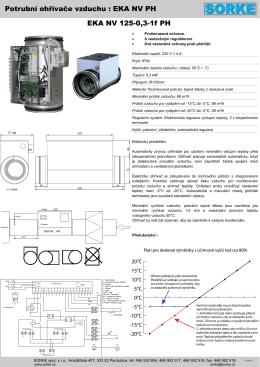 Potrubní ohřívače vzduchu : EKA NV PH EKA NV 125-0,3