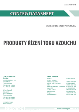 5.4. produkty řízení toku vzduchu