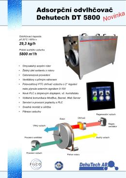 Sorpční odvlhčovač DT5800