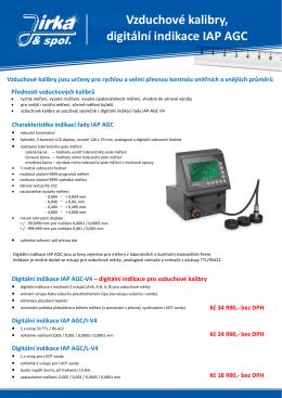 Vzduchové kalibry, digitální indikace IAP AGC
