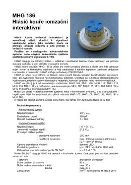 MHG 186 Hlásič kouře ionizační interaktivní