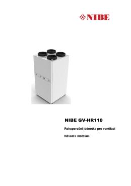NIBE GV-HR110 - Instalační návod