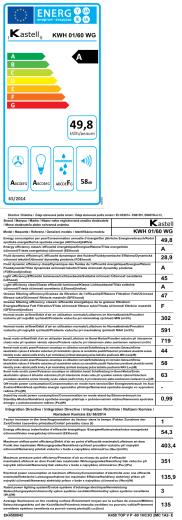 Energetický štítek + informační lis