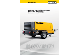 pojízdné stavební kompresory MOBILAIR M130 / M171