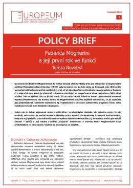 PDF F. Mogherini: První rok ve funkci