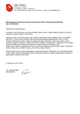 Omluva Janu Bartoškovi