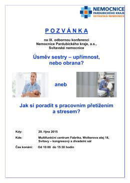 Pozvánka - Svitavská nemocnice