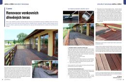 Renovace venkovních dřevěných teras