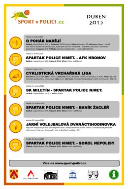 O POHÁR NADĚJÍ SPARTAK POLICE N/MET.